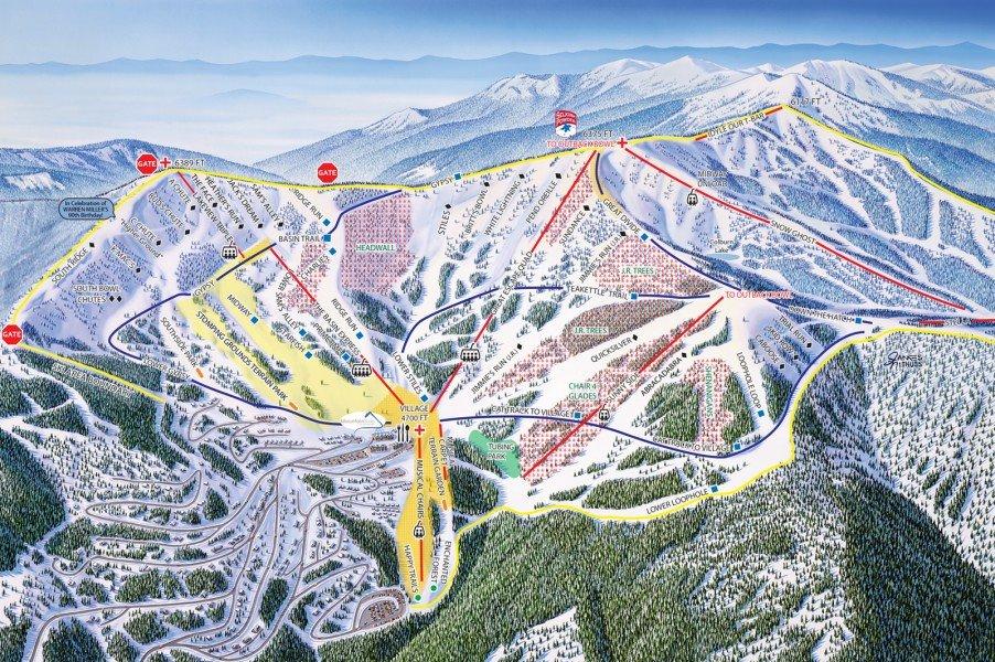 Trail Map Schweitzer Mountain Resort Panorama