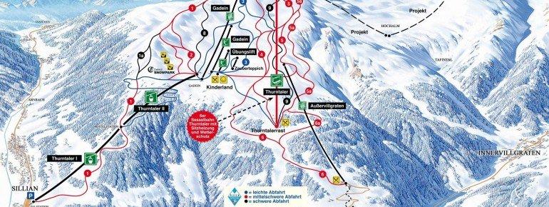 Trail Map Sillian Hochpustertal