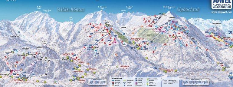Trail Map SKI JUWEL Alpbachtal Wildschönau