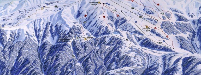 Trail Map Skikarussell Millstätter See