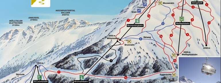 Trail Map St Jakob im Defereggental