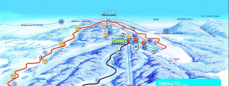 Trail Map Szczawnica Palenica