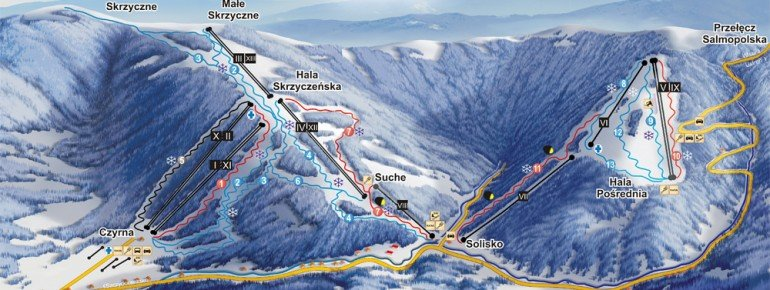 Trail Map Szczyrk Czyrna Solisko