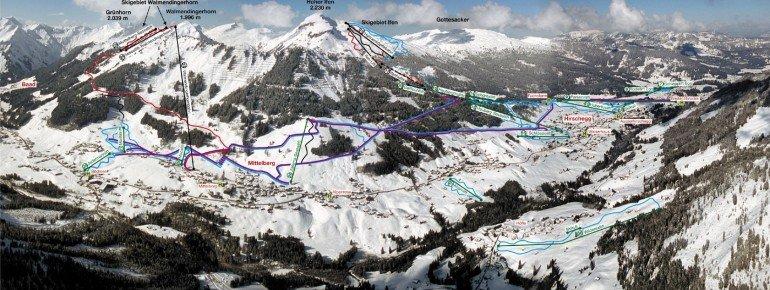 Trail Map Talskigebiet Kleinwalsertal