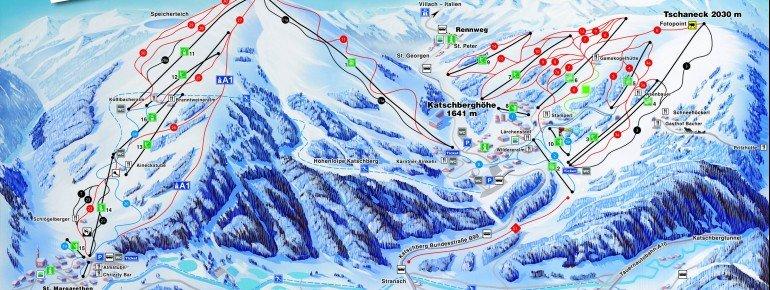 Trail Map Topschiregion Katschberg