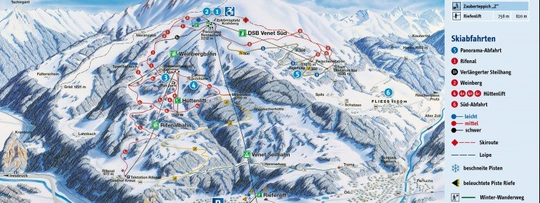 Trail Map Venet