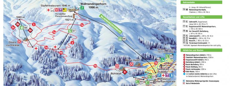 Trail Map Walmendingerhorn Kleinwalsertal