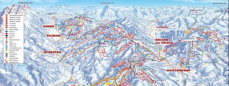 Trail Map Westendorf SkiWelt