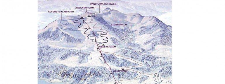 Trail Map Zwölferhorn Seilbahn St Gilgen