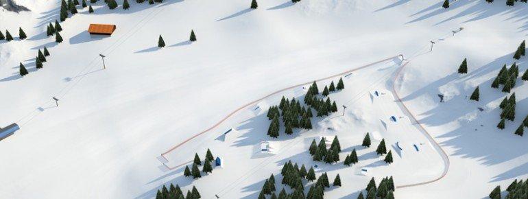 Park Setup Snowpark Obergurgl.