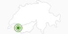 Langlaufgebiet Champery in Portes du Soleil - Chablais: Position auf der Karte