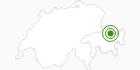 Langlaufgebiet Davos Klosters in Davos Klosters: Position auf der Karte