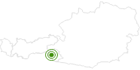 Langlaufgebiet Defereggental in Osttirol: Position auf der Karte