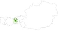 Langlaufgebiet Rinn in der Region Hall - Wattens: Position auf der Karte