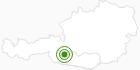 Langlaufgebiet Mölltaler Gletscher - Flattach in Hohe Tauern - die Nationalpark-Region in Kärnten: Position auf der Karte