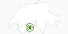 Langlaufgebiet Grächen - Hannigalp in Grächen - St.Niklaus: Position auf der Karte