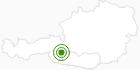 Langlaufgebiet Heiligenblut am Großglockner in Hohe Tauern - die Nationalpark-Region in Kärnten: Position auf der Karte