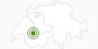Langlaufgebiet Gstaad in Gstaad - Saanenland: Position auf der Karte