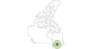 Langlaufgebiet Le Massif in Québec City: Position auf der Karte