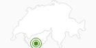 Langlaufgebiet Arolla Val d'Herens: Position auf der Karte