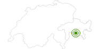 Langlaufgebiet Bivio in Savognin Bivio Albula: Position auf der Karte