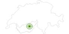 Langlaufgebiet Bürchen Rund um Visp: Position auf der Karte