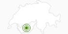 Langlaufgebiet Grimentz - Vercorin im Val d'Anniviers: Position auf der Karte