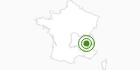 Langlaufgebiet Autrans in Isère: Position auf der Karte