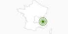 Langlaufgebiet Chamrousse in Isère: Position auf der Karte
