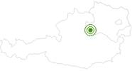 Langlaufgebiet Forsteralm im Mostviertel: Position auf der Karte