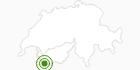 Langlaufgebiet La Fouly Val Ferret in Verbier St. Bernhard: Position auf der Karte