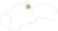 Langlaufgebiet Zuberec Janovky in der West Tatra: Position auf der Karte