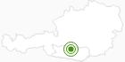 Langlaufgebiet Turracher Höhe in der Region Nockberge Bad Kleinkirchheim: Position auf der Karte