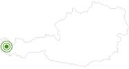 Langlaufgebiet Sonntag im Bregenzerwald: Position auf der Karte