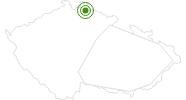 Langlaufgebiet Severak Isergebirge: Position auf der Karte