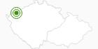 Langlaufgebiet Bozi Dar (Gottesgab) Erzgebirge Krusne hory: Position auf der Karte