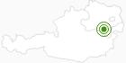 Langlaufgebiet Puchberg am Schneeberg in den Wiener Alpen in Niederösterreich: Position auf der Karte