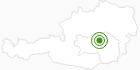 Langlaufgebiet Präbichl in der Hochsteiermark: Position auf der Karte