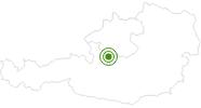 Langlaufgebiet Predigstuhl im Salzkammergut: Position auf der Karte
