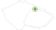 Langlaufgebiet Orlickych horach Adlergebirge: Position auf der Karte