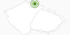 Langlaufgebiet Harrachov (Harrachsdorf) Tschechisches Riesengebirge: Position auf der Karte