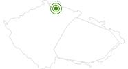 Langlaufgebiet Liberec - Jested Isergebirge: Position auf der Karte
