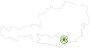 Langlaufgebiet Koralpe im Lavanttal: Position auf der Karte