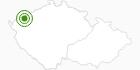 Langlaufgebiet Klinovec (Keilberg) Erzgebirge Krusne hory: Position auf der Karte