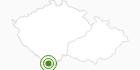 Langlaufgebiet Lipno im Nationalpark Böhmerwald: Position auf der Karte