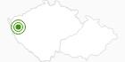 Cross-Country Skiing Area Marianske Lazne Krusne Hory: Position on map