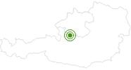 Langlaufgebiet Katrin Alm im Salzkammergut: Position auf der Karte