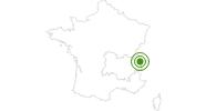 Langlaufgebiet Chamonix Brevent Flegere Hochsavoyen: Position auf der Karte