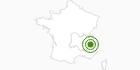 Langlaufgebiet La Grave in Isère: Position auf der Karte