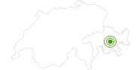 Langlaufgebiet Bergün Filisur in Bergün Filisur: Position auf der Karte